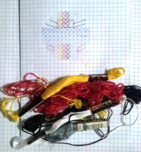 Pattern for the Vettel Cross-Stitch.